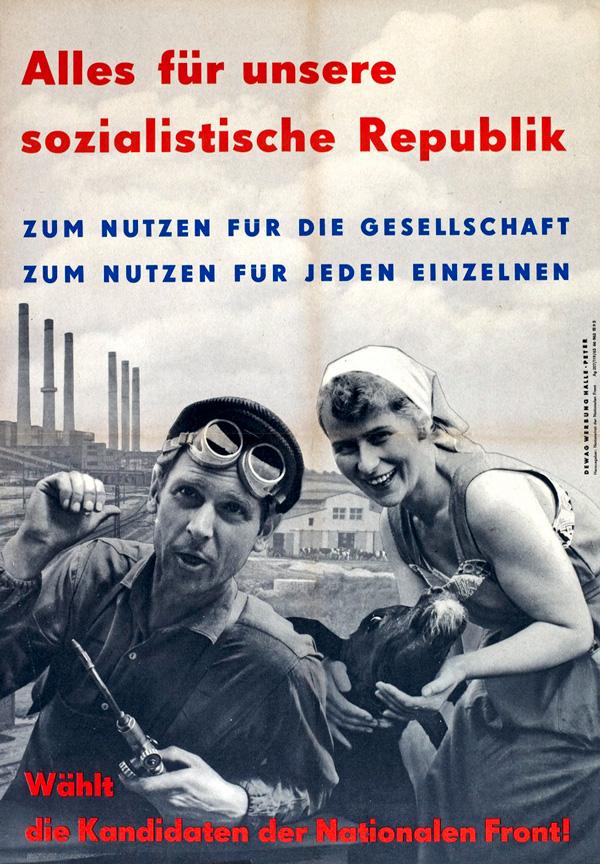 Werbeplakat für die Nationale Front. Quelle: LMZ.